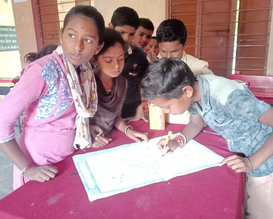School kids at Rajit