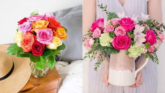 beautiful flower vase decoration