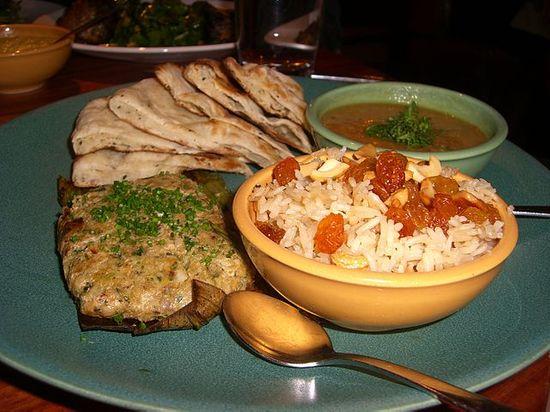Kashmiri pulao and their famous Roganjosh