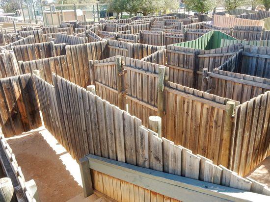 wooden maze