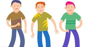 Weary Competition:three friends wit...
